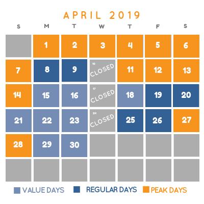 Variable Pricing April 2019