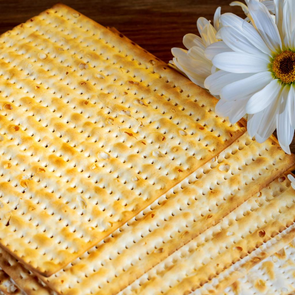 Matzah is a flat bread eaten on Passover.